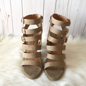 Qupid Shoes - Strappy Ankle Booties